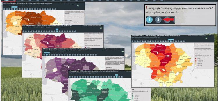 Informaciją apie 2017 metais Lietuvoje deklaruotas žemės ūkio naudmenas