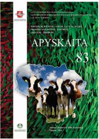 VĮ Žemės ūkio informacijos ir kaimo verslo centras pristato 2019−2020 metų gyvūnų produktyvumo tyrimų rezultatus leidinyje Apyskaita 83